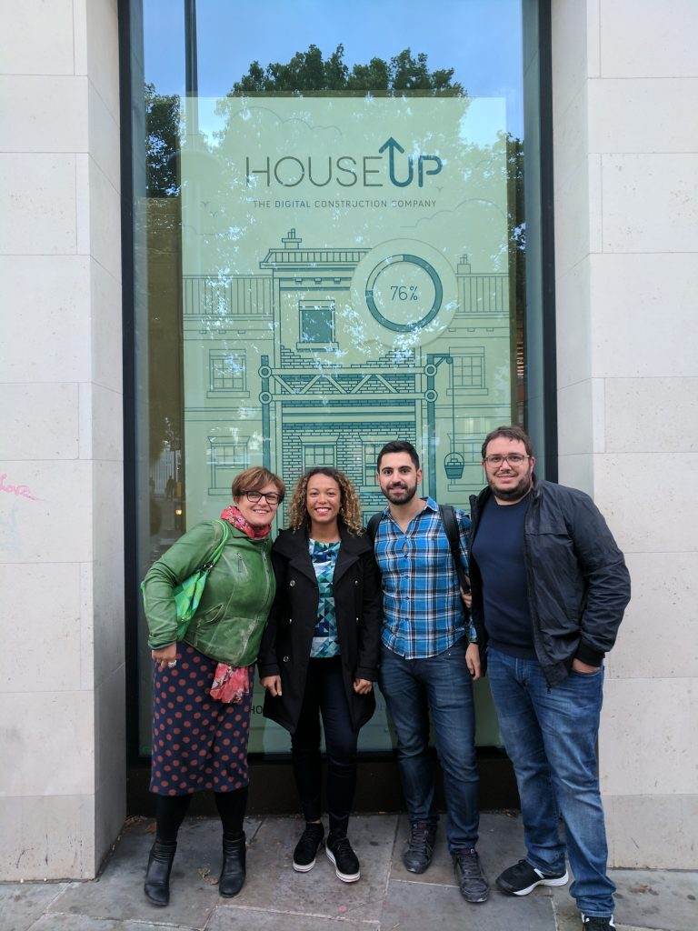 The houseUP team in front of Oseyo Restaurant Waterloo during the work