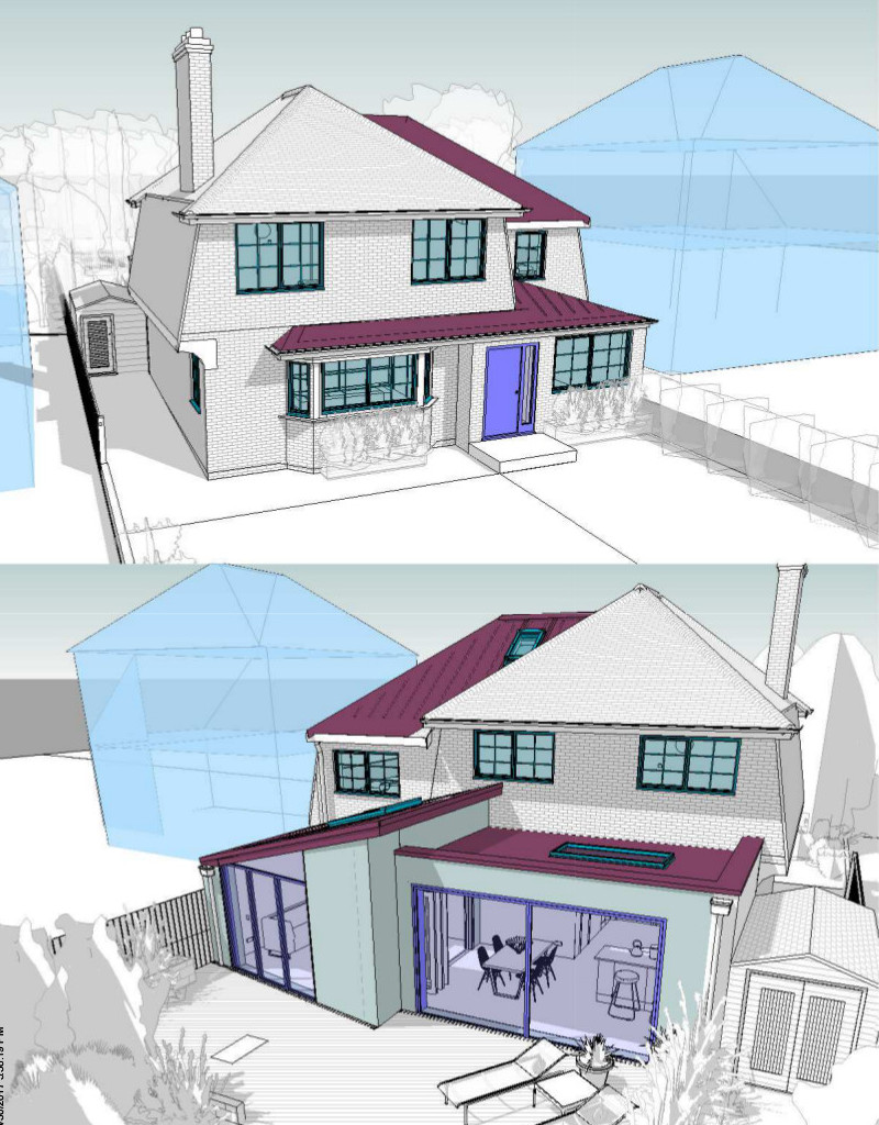 Double storey extension in Croydon elevation
