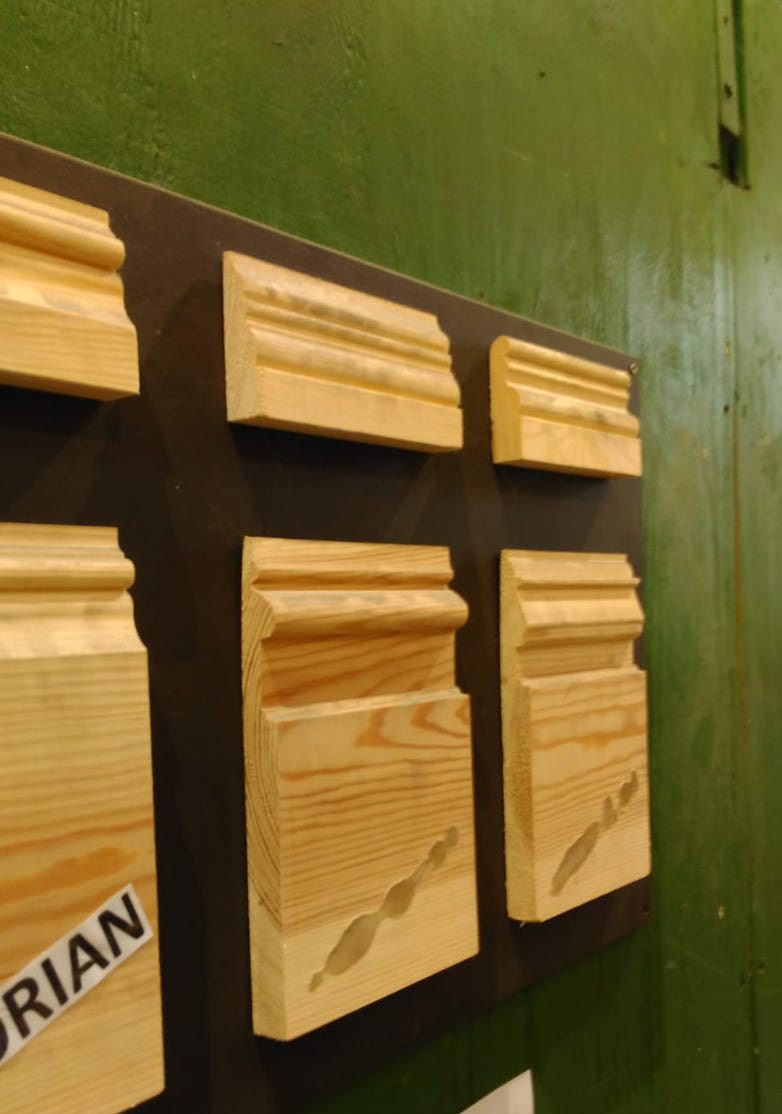 Selection of skirtings with different size and profile