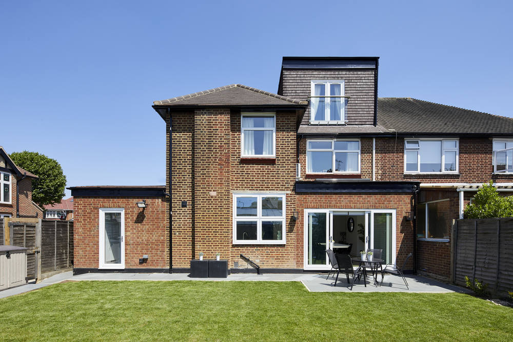 _A7A7109 Full house extension renovation Willesden garden view with full house exterior